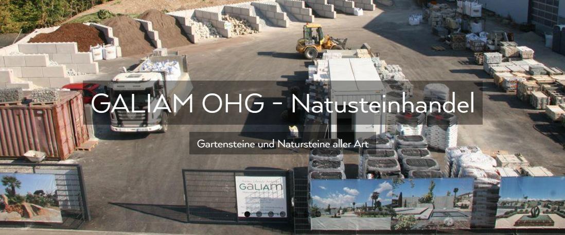 Gartensteine, Natursteine Bretten - GALIAM Steinhandel: Mauersteine, Bodenplatten, Natursteinpflaster, Zierkiese, Rollrasen
