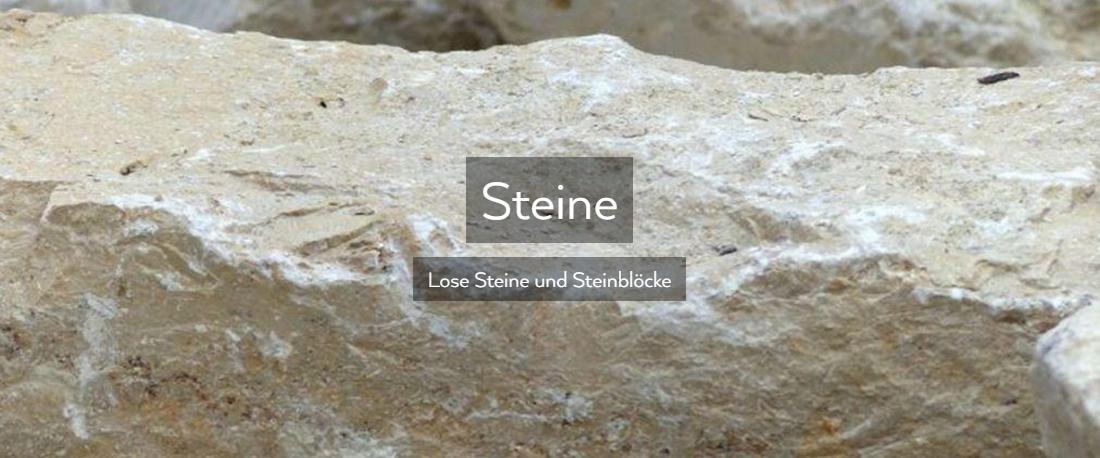 Steine, Steinblöcke